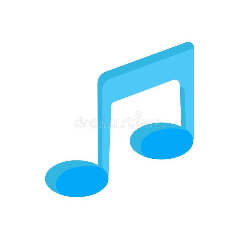 För vektorsymbol för musikalisk anmärkning symbol för design för melodi för illustration Isolerad vit teckenbeståndsdel för abstr royaltyfri illustrationer