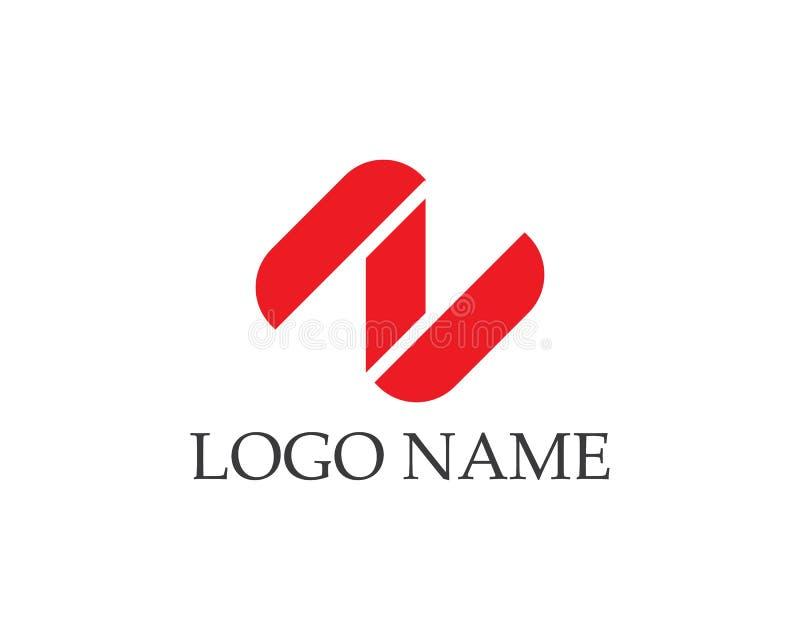 För vektorsymboler för bokstav n logoer royaltyfri illustrationer