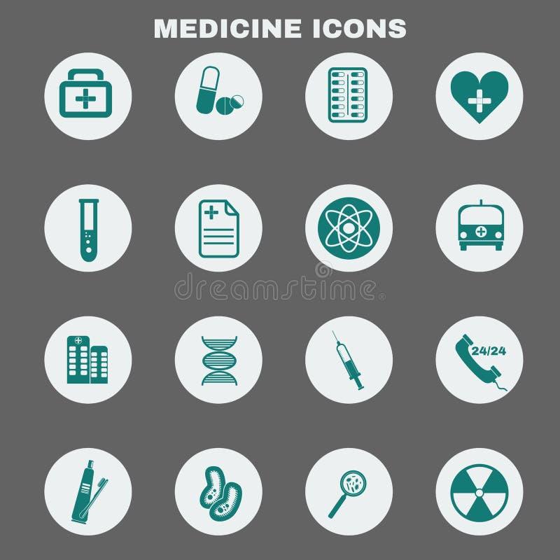 För vektorsymboler för sjukvård medicinsk uppsättning royaltyfri illustrationer