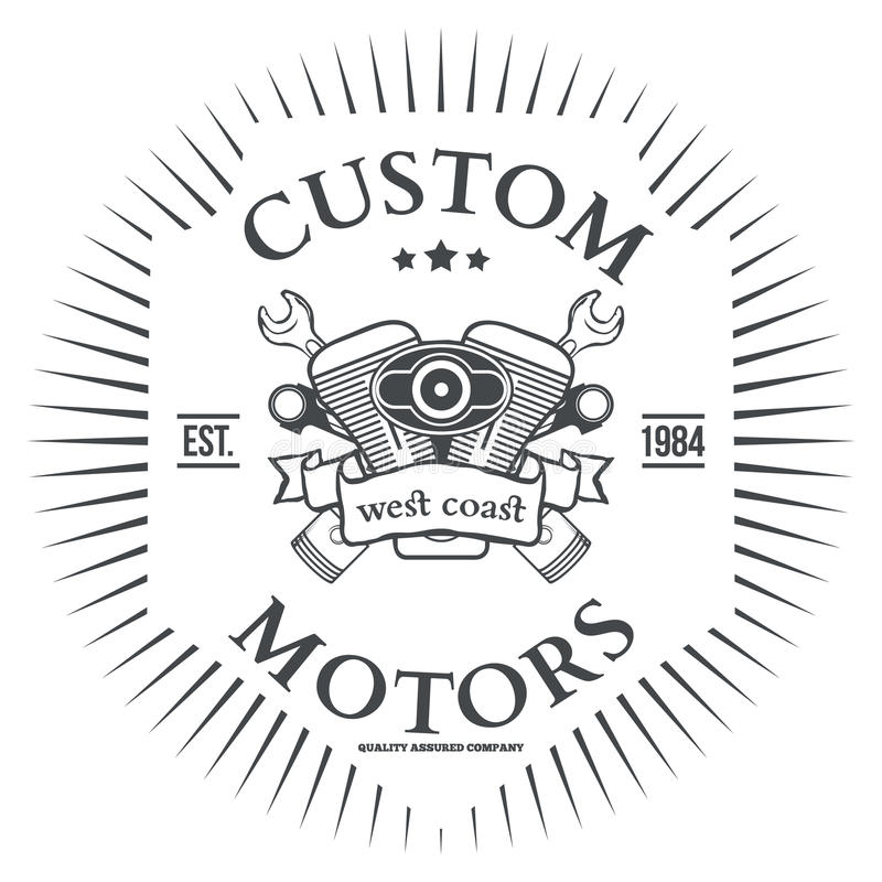 För vektort-skjorta för egen motorisk design tryck stock illustrationer