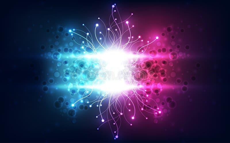 För vetenskapsteknologi för vektor abstrakt futuristiskt begrepp för bakgrund, högt digital illustration vektor illustrationer