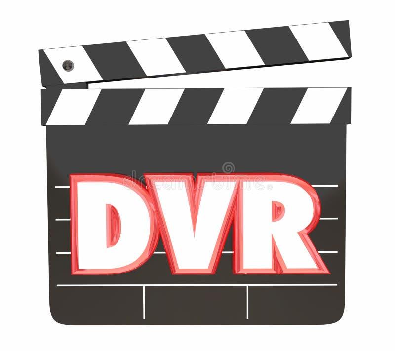 För videoregistreringsapparat för DVR Digital filmer för räddning programmerar hållande ögonen på 3d Illus vektor illustrationer