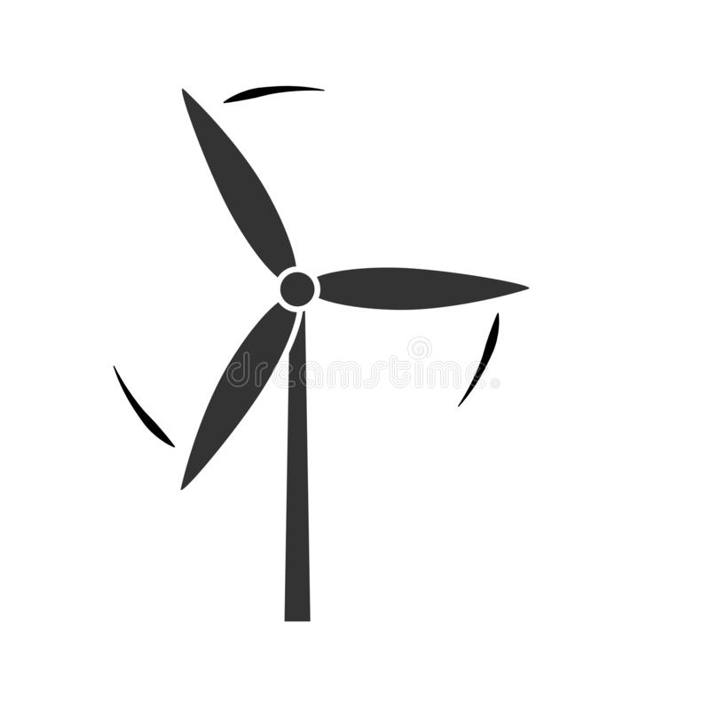 För för vindturbin och förnybara energikällor för väderkvarn alternativt begrepp för miljö för symbol för vektor för den grafiska vektor illustrationer