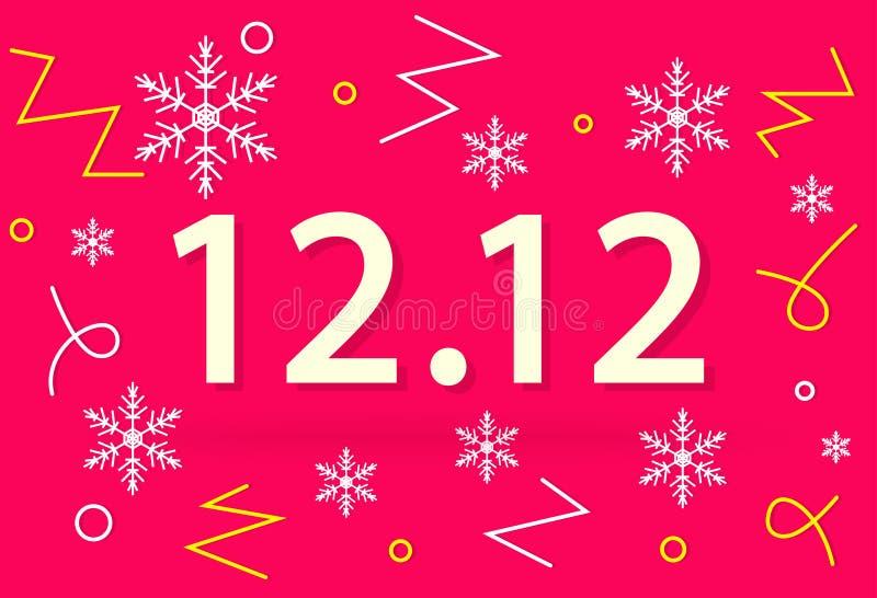 12 för vinteröverraskning för 12 aktion affär för försäljning vektor illustrationer