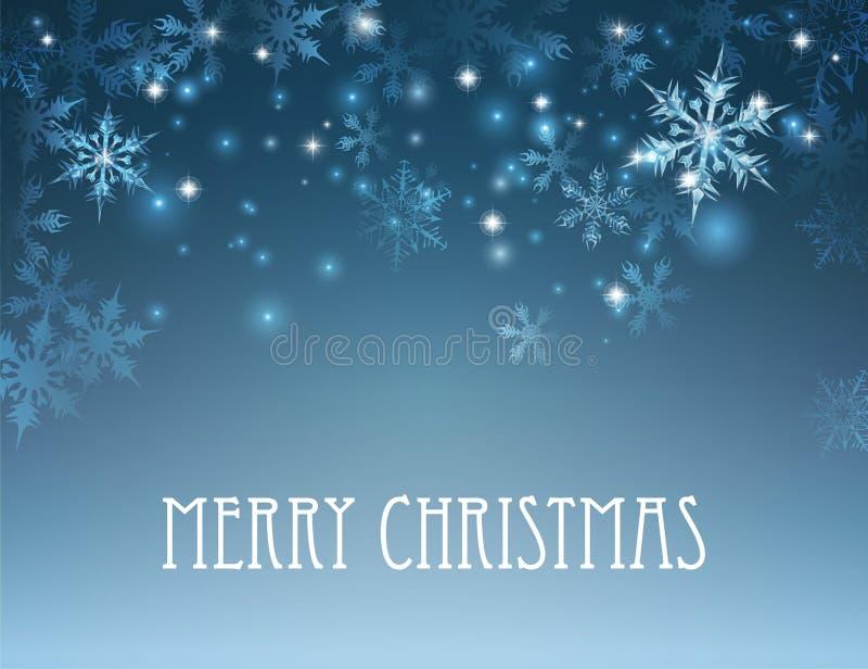 För vintersnöflinga för glad jul bakgrund vektor illustrationer