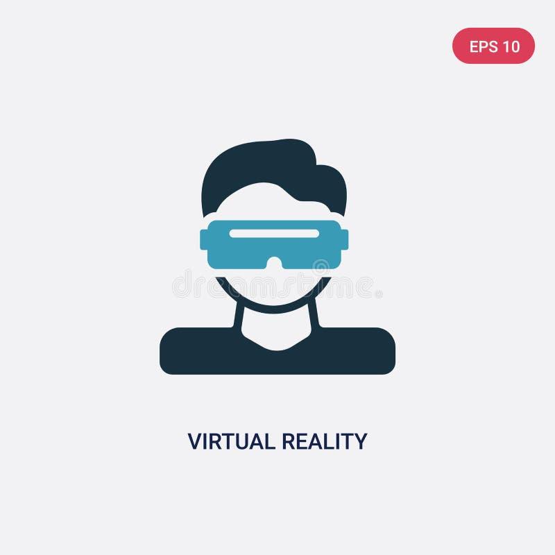 För virtuell verklighetvektor för två färg symbol från smart husbegrepp det isolerade blåa symbolet för virtuell verklighetvektor vektor illustrationer
