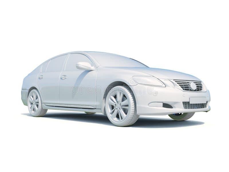 för vitmellanrum för bil 3d mall royaltyfri illustrationer