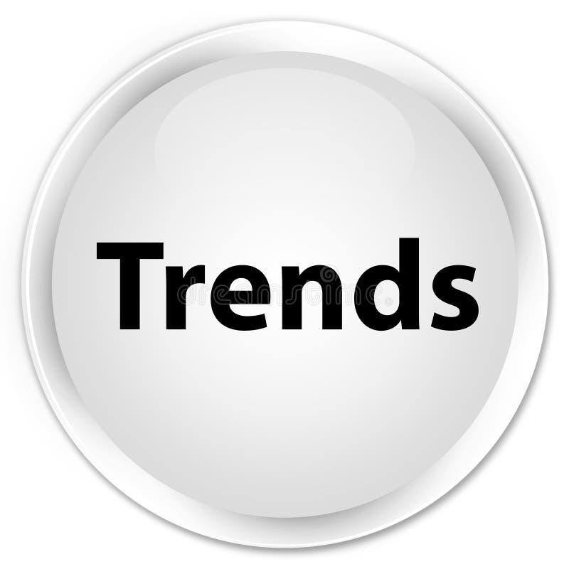 För vitrunda för trender högvärdig knapp royaltyfri illustrationer