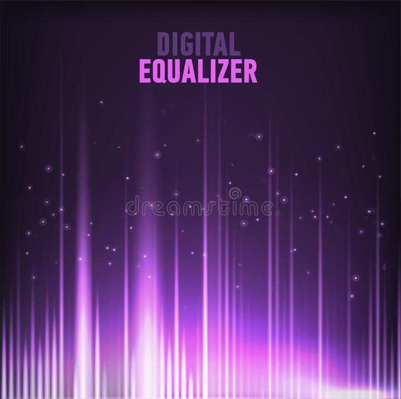 För waveformteknologi för mång- färg ljudsignal för Digital för bakgrund bild för vektor för abstrakt begrepp för teknologi utjäm royaltyfri illustrationer