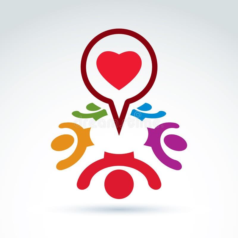Föra dialog på förälskelse och hälsa - internationellt forum på läkarundersökning och royaltyfri illustrationer