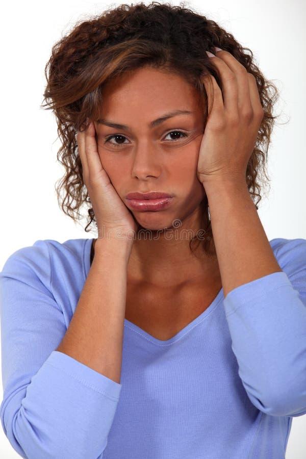 Förargad kvinna. royaltyfria foton