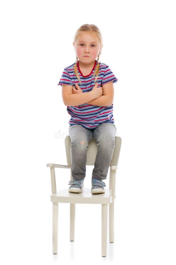 Förargat flickabarn fotografering för bildbyråer