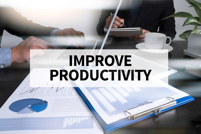 Förbättra produktivitet royaltyfri fotografi