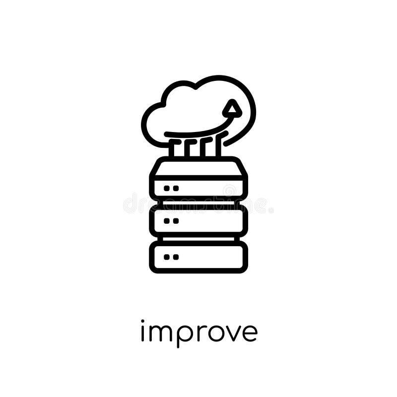 Förbättra symbolen Den moderiktiga moderna plana linjära vektorn förbättrar symbolen på w stock illustrationer