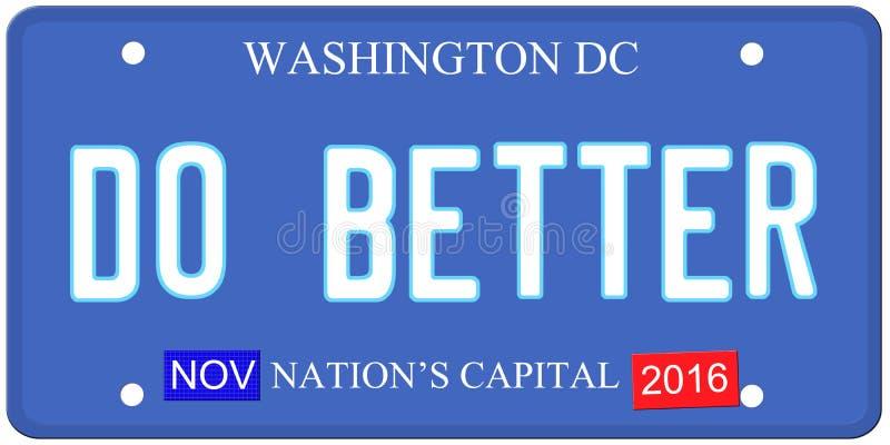 Förbättra Washington stock illustrationer