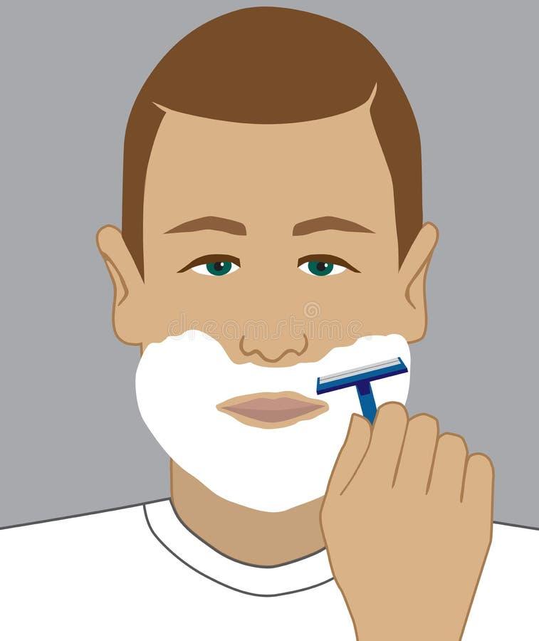 Förbereda sig att raka stock illustrationer