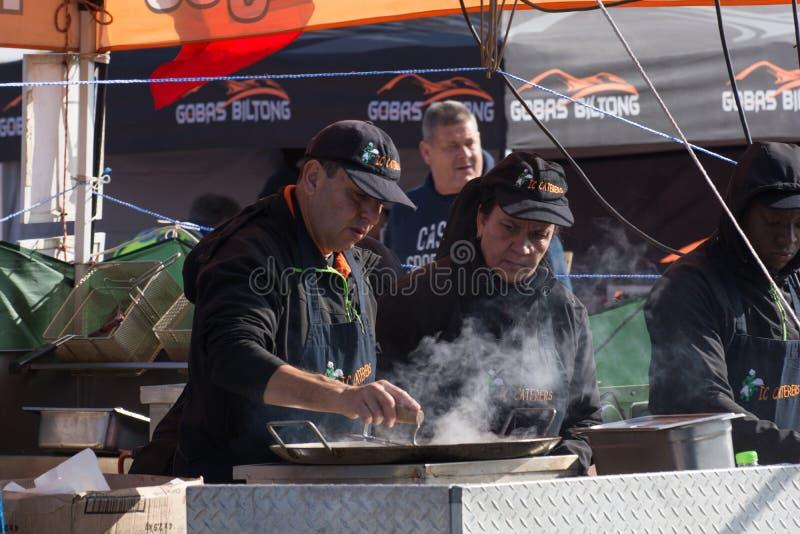 Förberedelser på en mat stannar på Rand Airshow 2018 arkivfoto