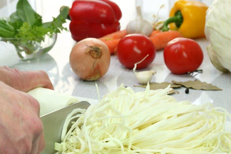 förberedelsesoupgrönsak royaltyfri fotografi