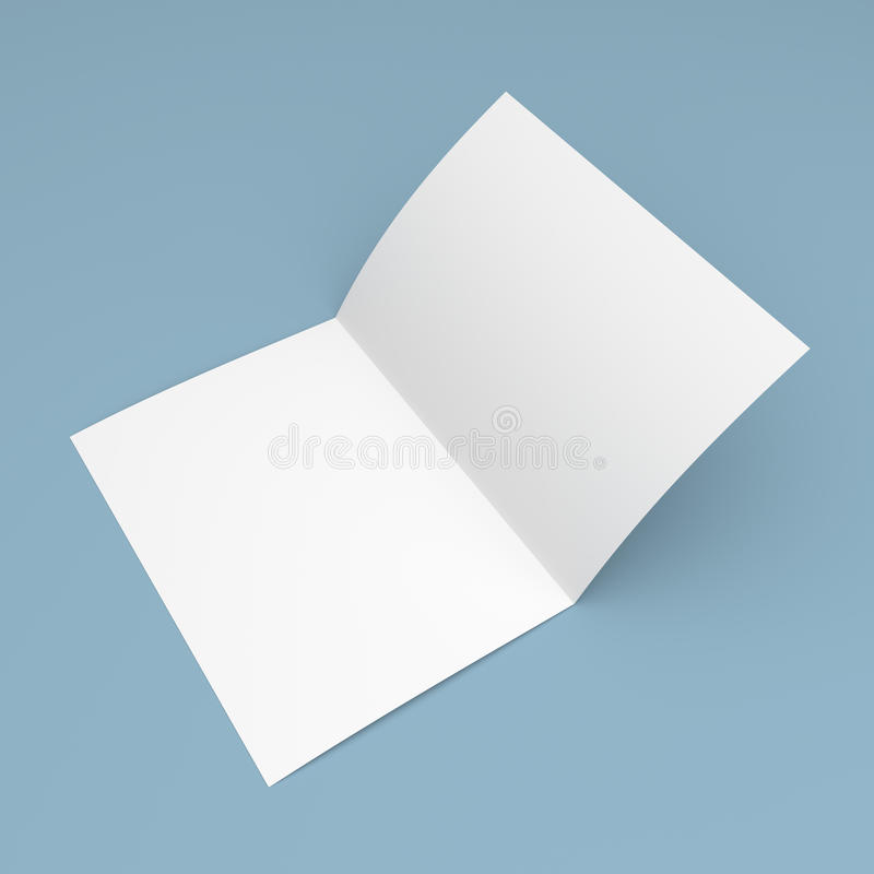 Förbigå den vikta reklambladet, häftet, vykortet, affärskortet eller broschyren vektor illustrationer