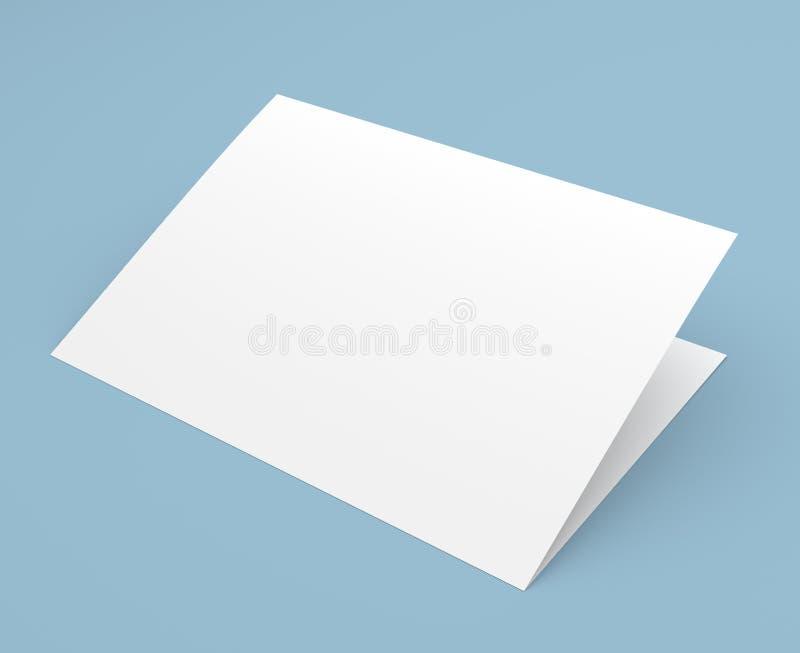 Förbigå den vikta reklambladet, häftet, vykortet, affärskortet eller broschyren royaltyfri illustrationer