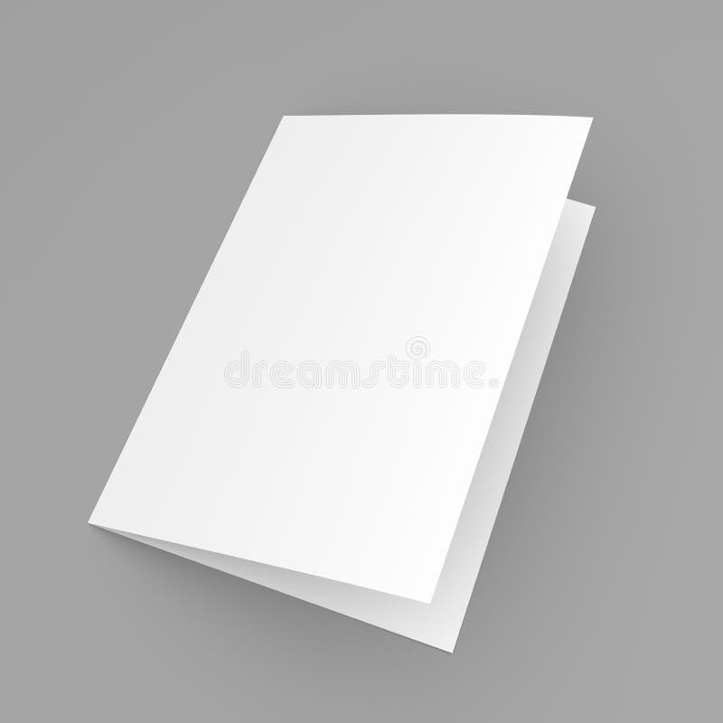Förbigå den vikta reklambladet, häftet, vykortet, affärskortet eller broschyren stock illustrationer