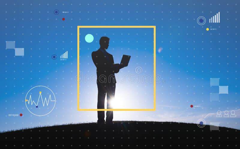 Förbind begreppet för livsstilen för internet för kommunikationsteknologi royaltyfri foto