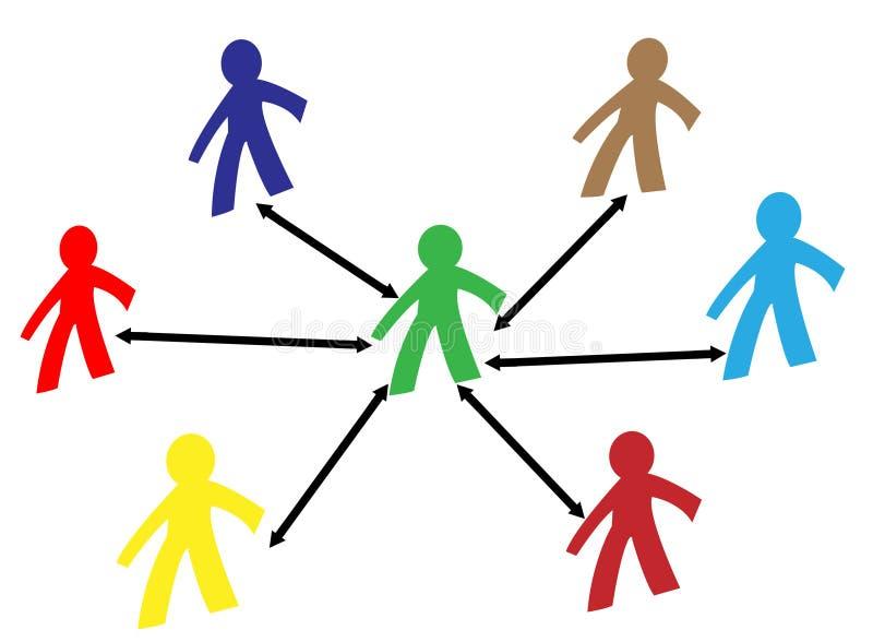 förbind folk vektor illustrationer