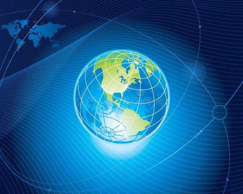 förbind globalt royaltyfri illustrationer