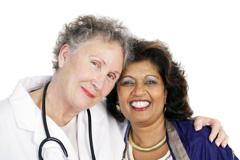 förbind patient förtroende för doktorn royaltyfria bilder