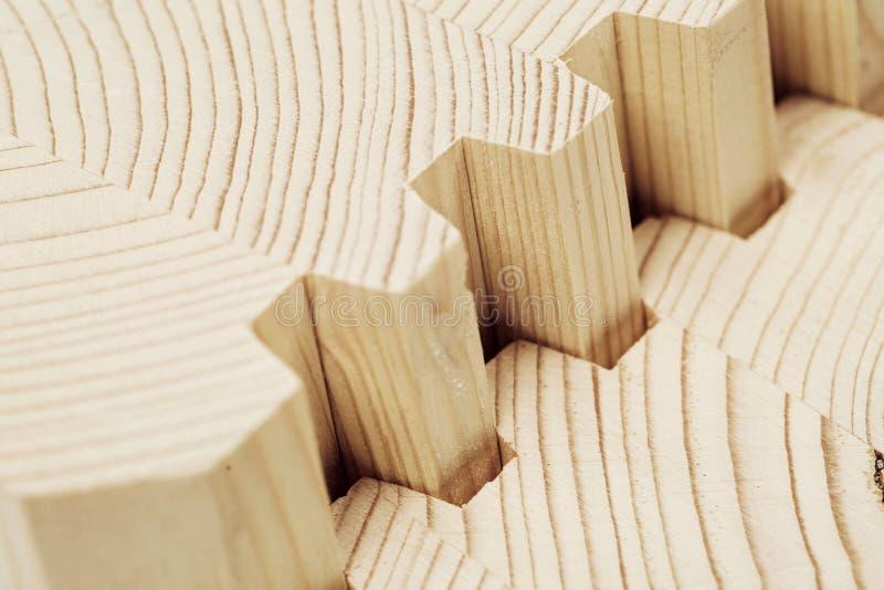 Förbind träpläterat fanérbråte royaltyfri foto