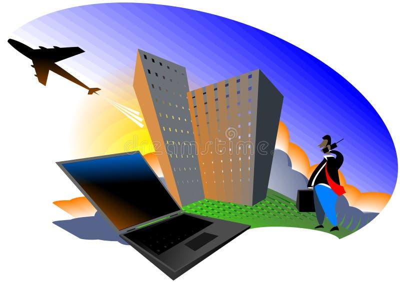 förbind världen vektor illustrationer