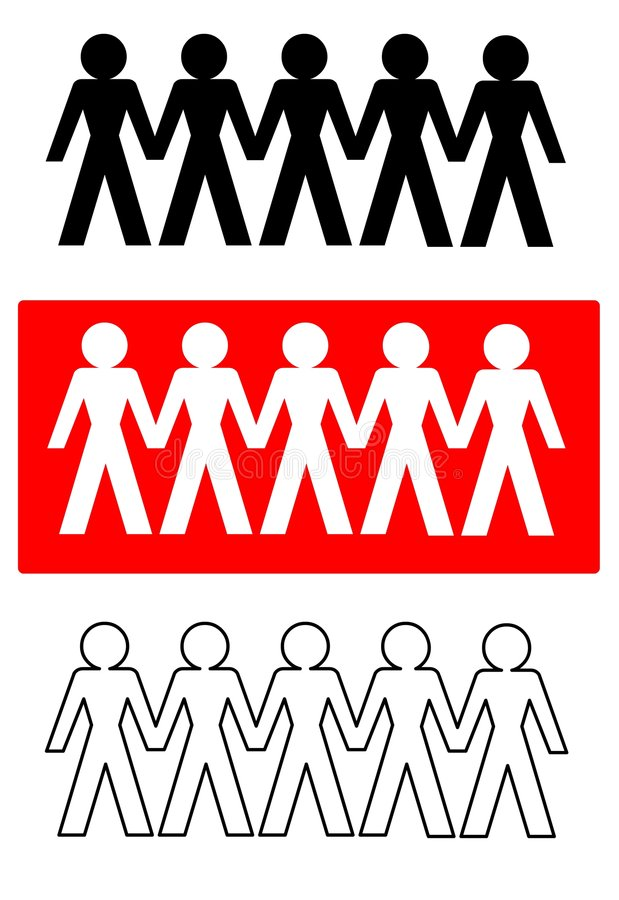 förbindande folkvektor vektor illustrationer