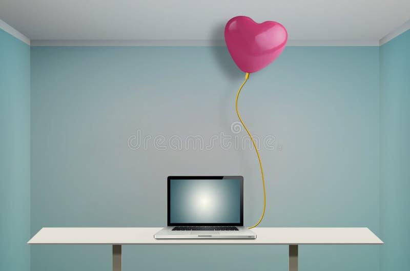 Förbindelseballong som hjärta-formas arkivbilder