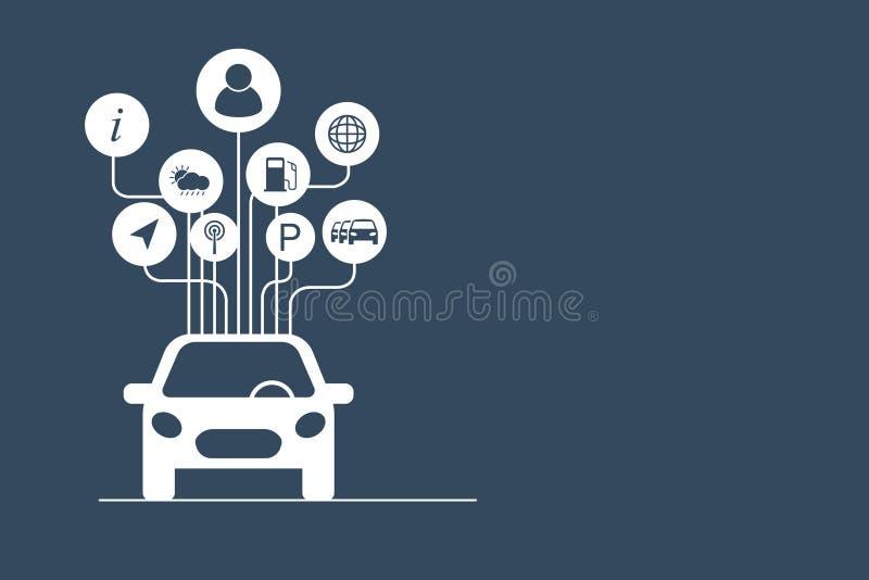 Förbindelsebilbegrepp stock illustrationer