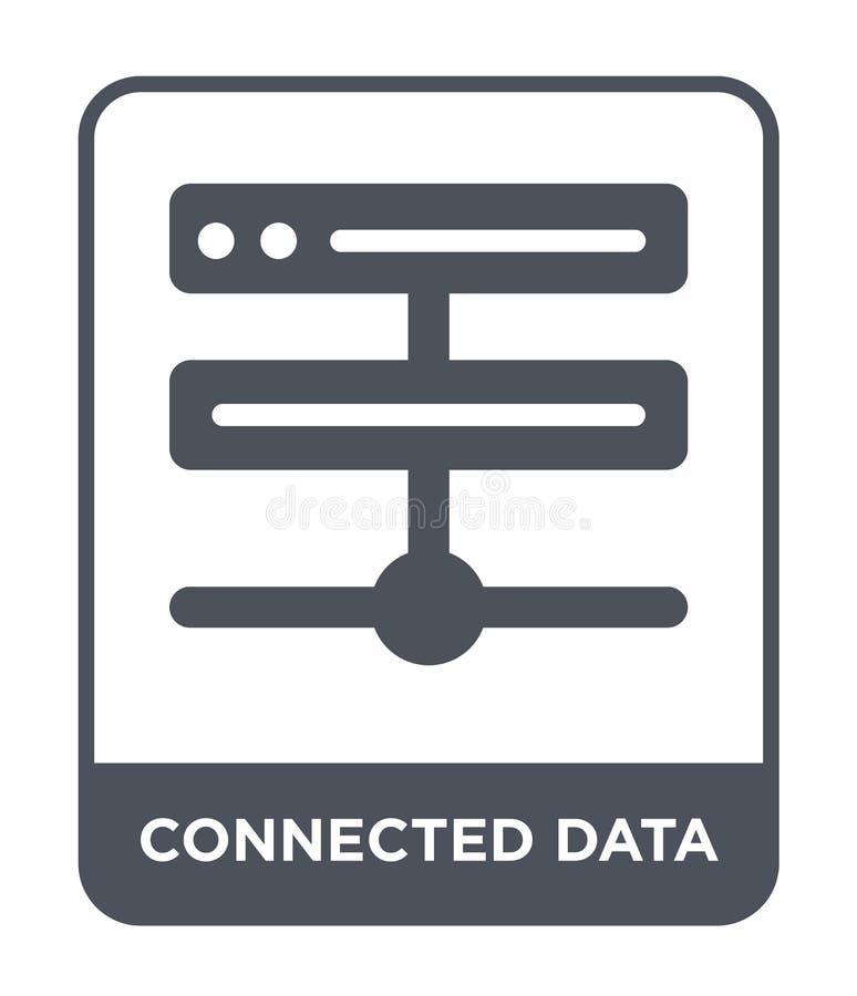 förbindelsedatasymbol i moderiktig designstil förbindelsedatasymbol som isoleras på vit bakgrund enkel förbindelsesymbol för data stock illustrationer