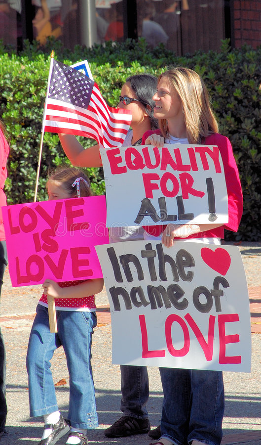 förbindelseprotesten samma könsbestämmer royaltyfria foton