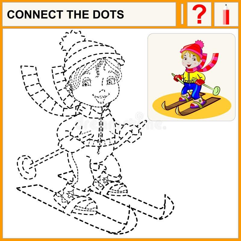 0116_48 förbinder prickarna vektor illustrationer
