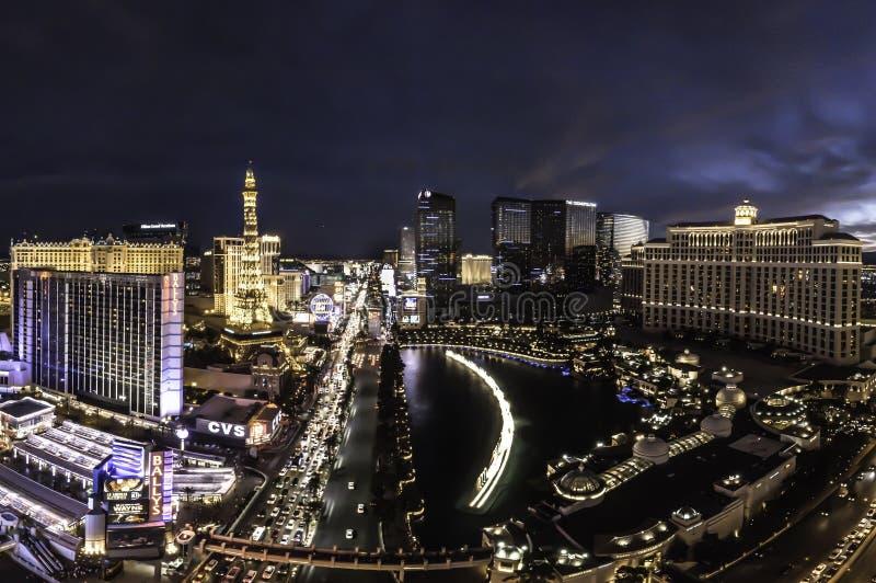 Förbise den Las Vegas remsan i Nevada arkivbild
