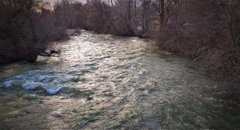 Förbise floden arkivbild