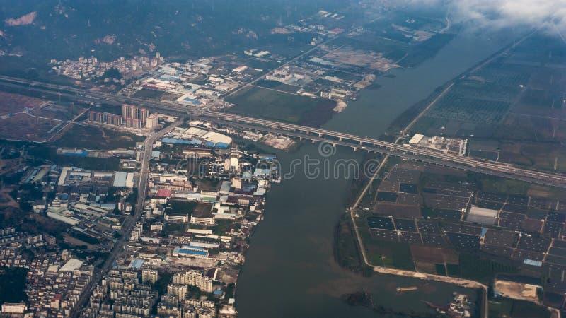 Förbise staden av Zhuhai, Kina royaltyfri bild