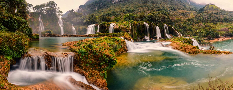 förbjuda giocvattenfallet fotografering för bildbyråer