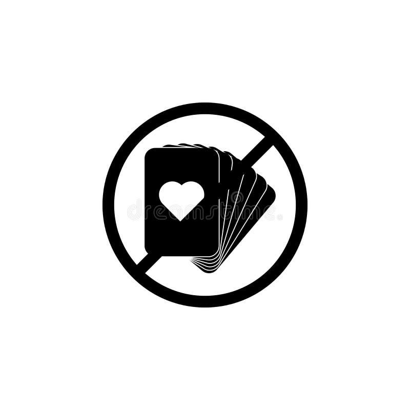 Förbjuda på att spela kortsymbolen Beståndsdel av den religiösa kultursymbolen Högvärdig kvalitets- symbol för grafisk design Tec royaltyfri illustrationer