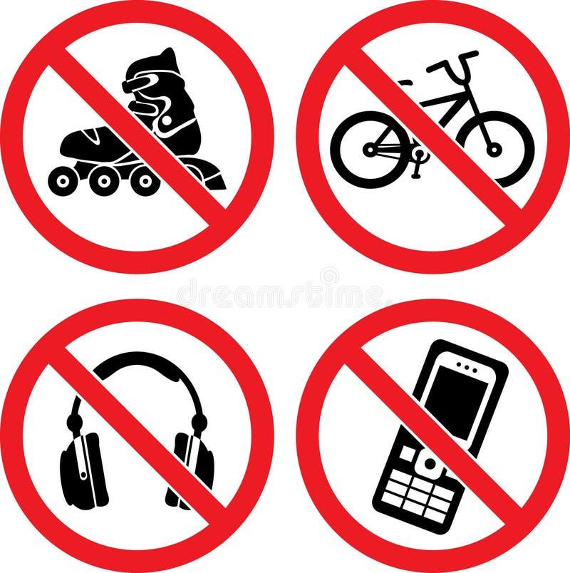 förbjuda teckenvektor stock illustrationer