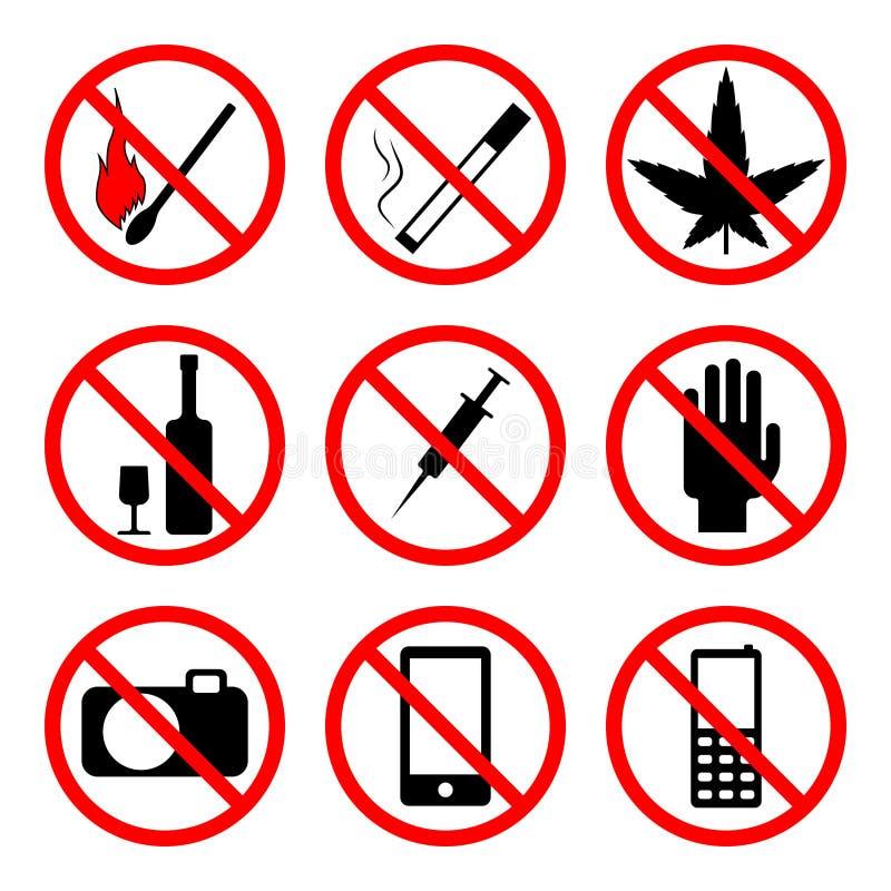 förbjuda teckenvektorn royaltyfria bilder