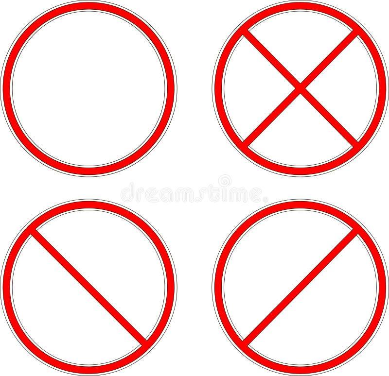 förbjuda tecknet cirkel vektor illustrationer