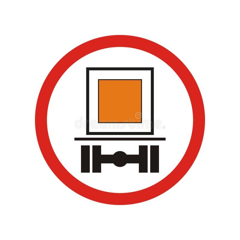 Förbjuda trafiktecknet royaltyfri illustrationer