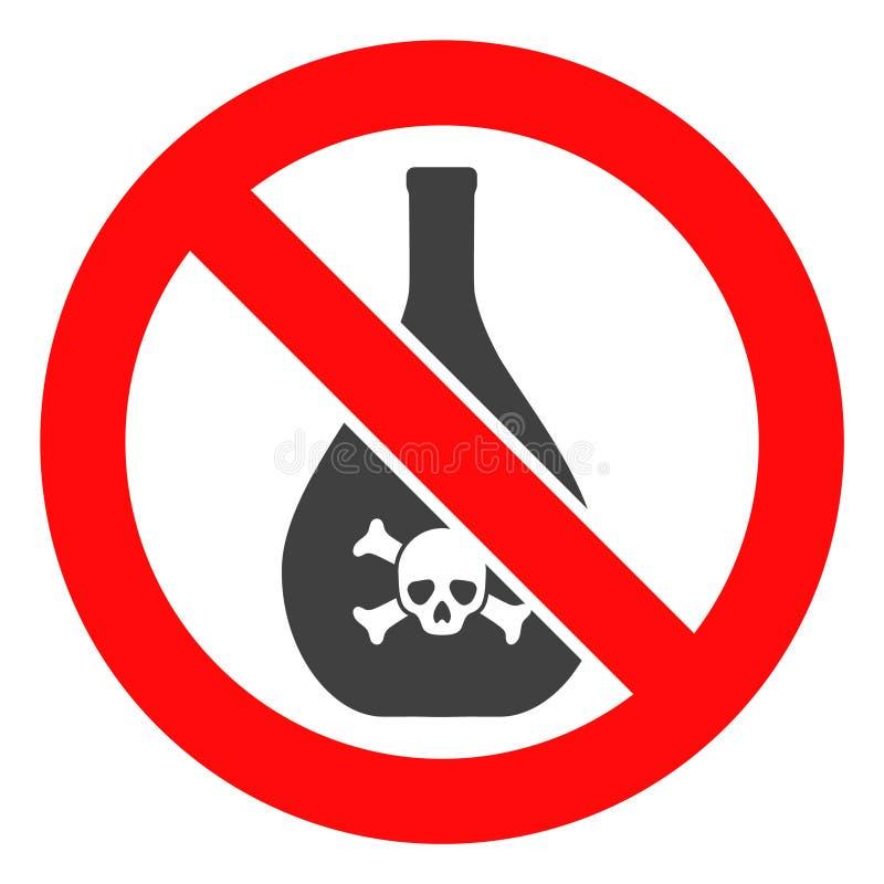 Förbjuden kemikaliesymbol för vektor stock illustrationer