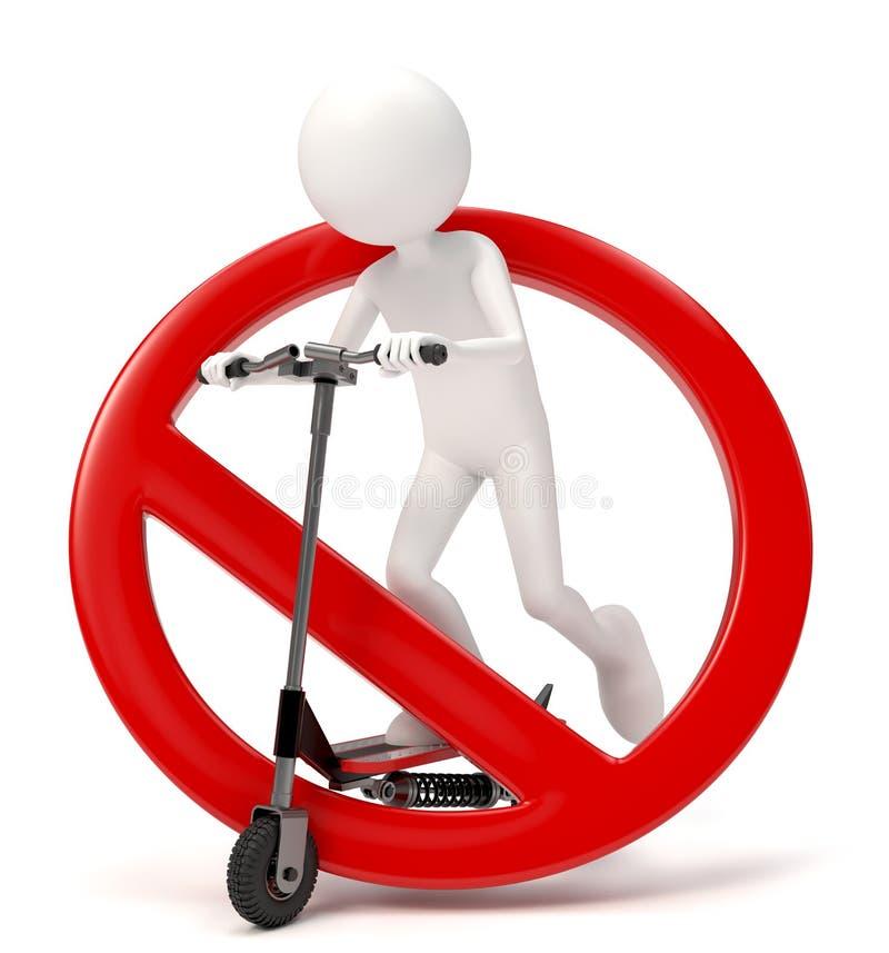 Förbjuden sparkcykel vektor illustrationer