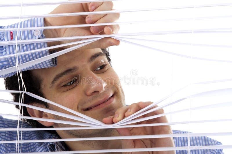 förblindar ifrån varandra handfönstret arkivfoto
