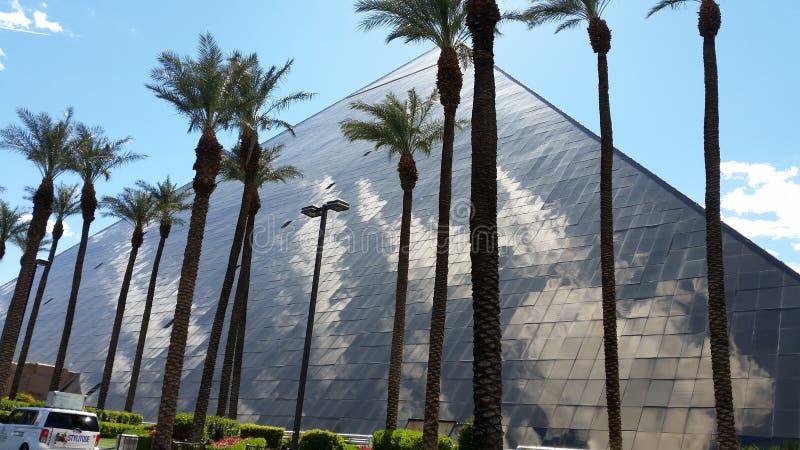 Förbluffa den Luxor hotellpyramiden Las Vegas NV arkivfoton
